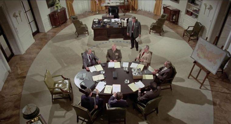 "La salle ovale de la Maison Blanche, dans ""Twilight's Last Gleaming"" (1977)"